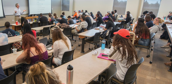 Colorado State University Students in a classroom in the General Classroom Building