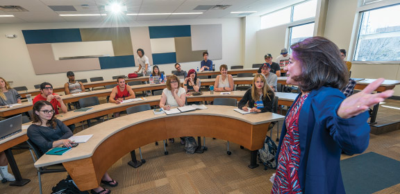 A women's studies class at Colorado State University-Pueblo