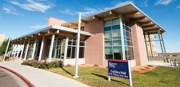 Image of the Culebra Hall on the Colorado State University-Pueblo campus
