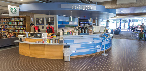 A picture of the Café Libro in the Library and Academic Resource Center.