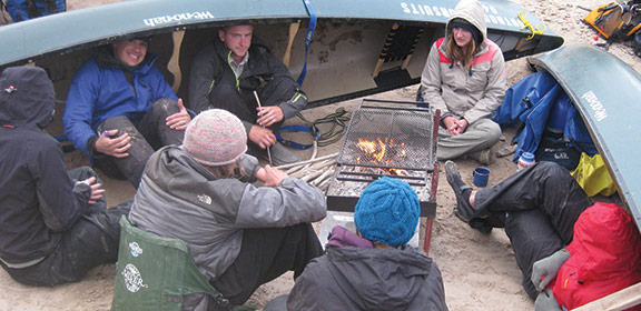 Colorado State University-Pueblo Outdoor Pursuits students camping