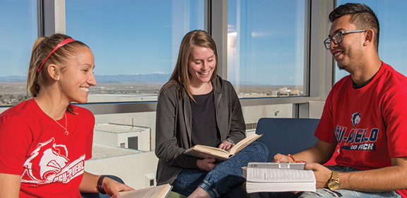Students studying in the Library and Academic Resource Center