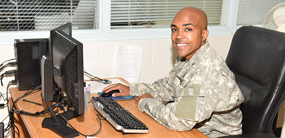 A Colorado State University-Pueblo military student
