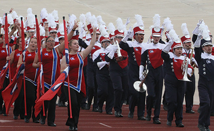 Colorado State University-Pueblo Band at a Football Game