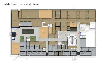 New Main Floor blueprint for psychology building
