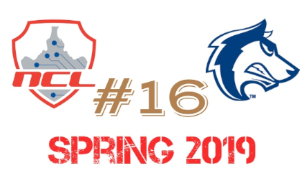 NCL Spring 2019 Team Ranking