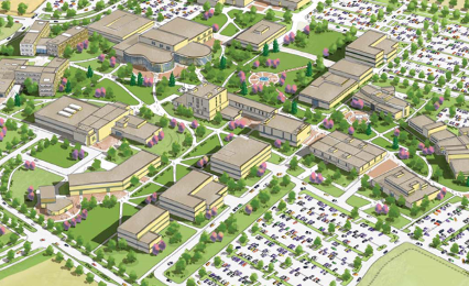 Concept drawing of Future Campus layout