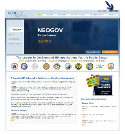 NeoGov Employer Login