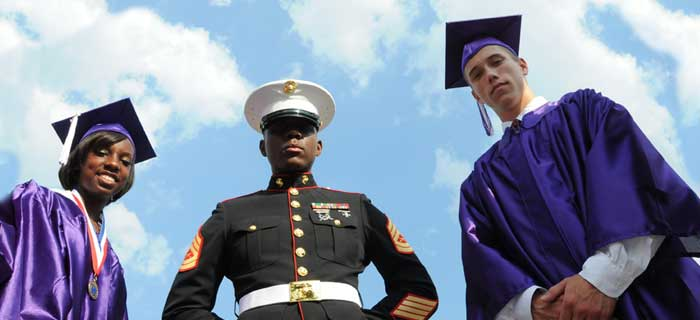 veterans graduating