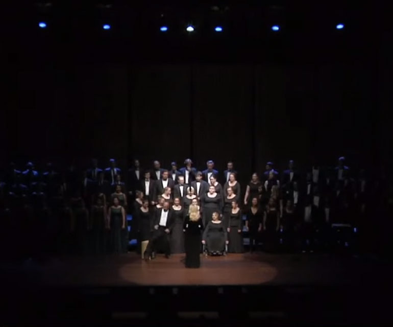 Chamber Choir performing